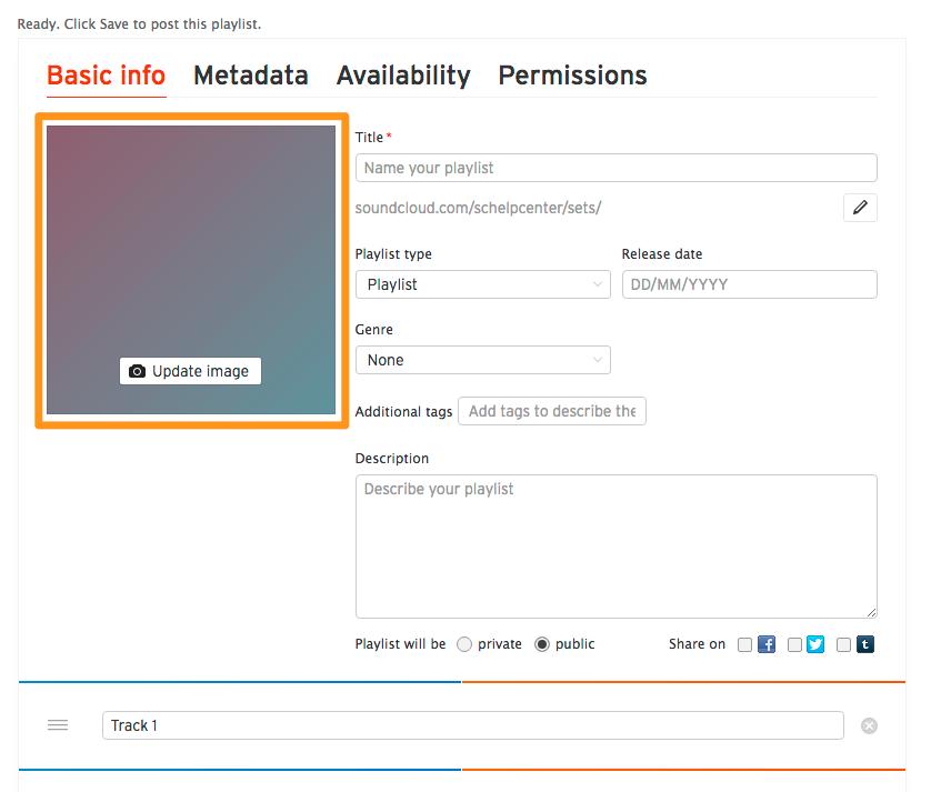 Adding playlist artwork when uploading – SoundCloud Help Center