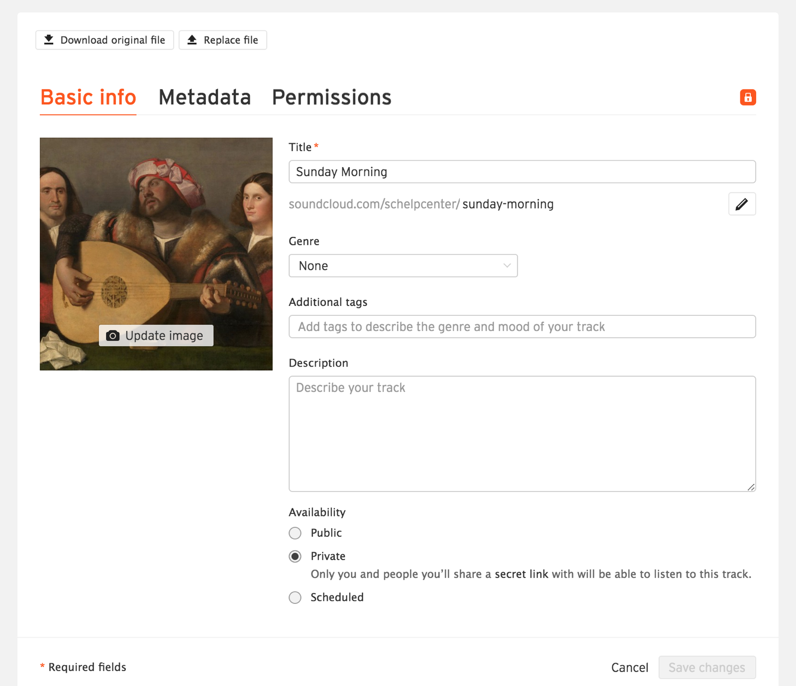 Changing your track's privacy setting – SoundCloud Help Center